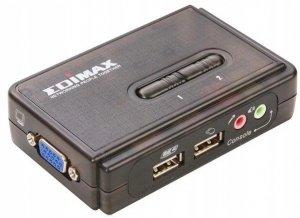 Przełącznik KVM EDIMAX EK-UAK2 (350MHz High Bandwidth 2 Ports USB KVM)