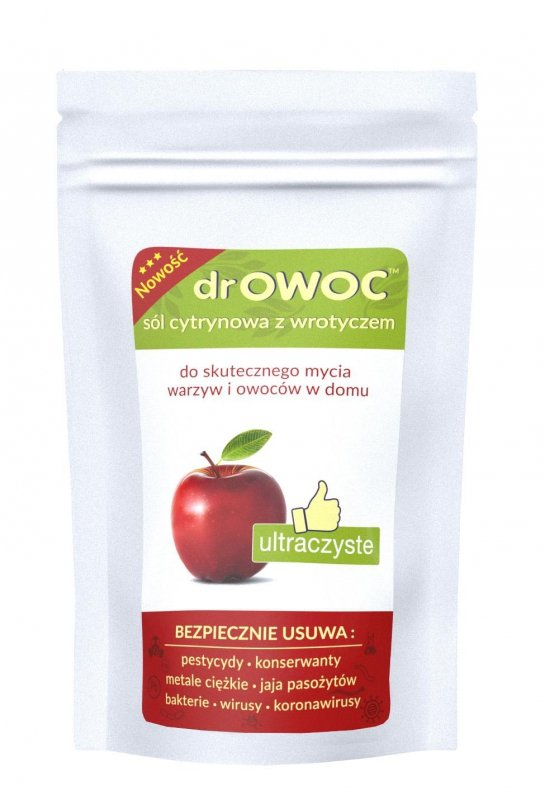 drOwoc sól do mycia owoców i warzyw doypack 300g, Polskie Warzelnie Soli