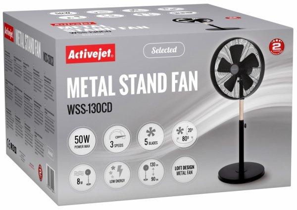 Activejet Selected WSS-130CD metalowy wentylator stojący