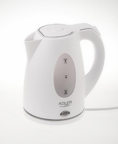 Adler AD1207 czajnik elektryczny 1,5 l Biały 2000 W
