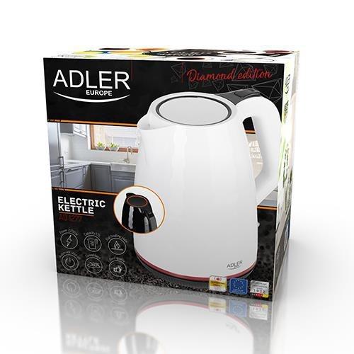Adler AD 1277 W czajnik elektryczny 1,7 l Biały 2200 W