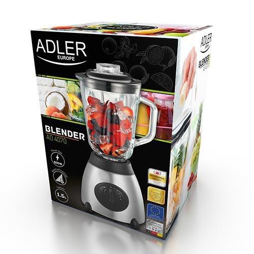Blender kielichowy Adler AD 4070 (600W; kolor czarny)