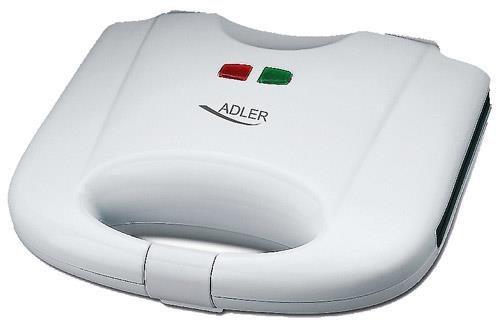 Adler AD 311 gofrownica 2 wafel(e) Biały 700 W
