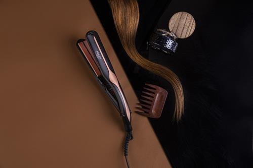 Adler AD 2318 urządzenie do stylizacji włosów Prostownica Ciepły Czarny, Koralowy 120 W