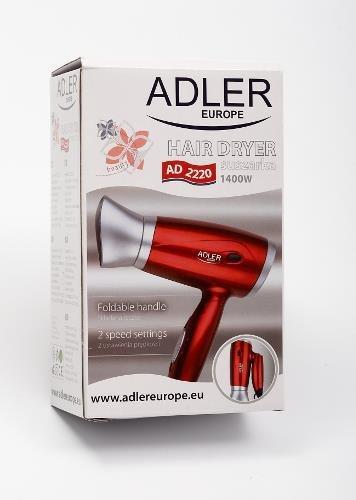 Suszarka do włosów Adler AD 2220 (1400W; kolor czerwony)