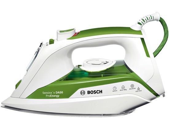 Bosch TDA502412E żelazko Żelazko parowe Ceramiczna śliska stopa żelazka Zielony, Biały 2400 W