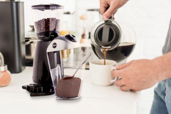 Młynek do kawy ELDOM MK150  COFFEA, 100 W, ceramiczne żarna, 3 stopnie grubości mielenia