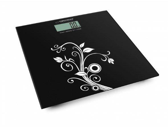 Esperanza EBS003 waga Elektroniczna waga osobista Kwadrat Czarny, Biały