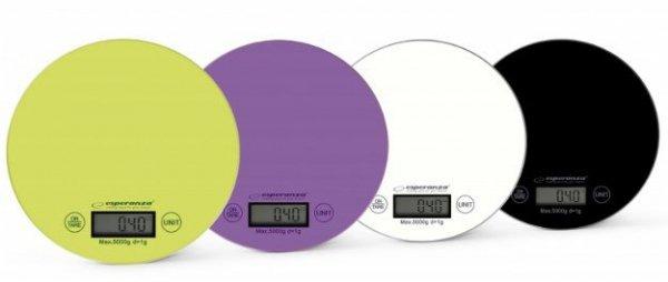 Esperanza EKS003G waga kuchenna Elektroniczna waga kuchenna Zielony, Żółty Blat Okrągły