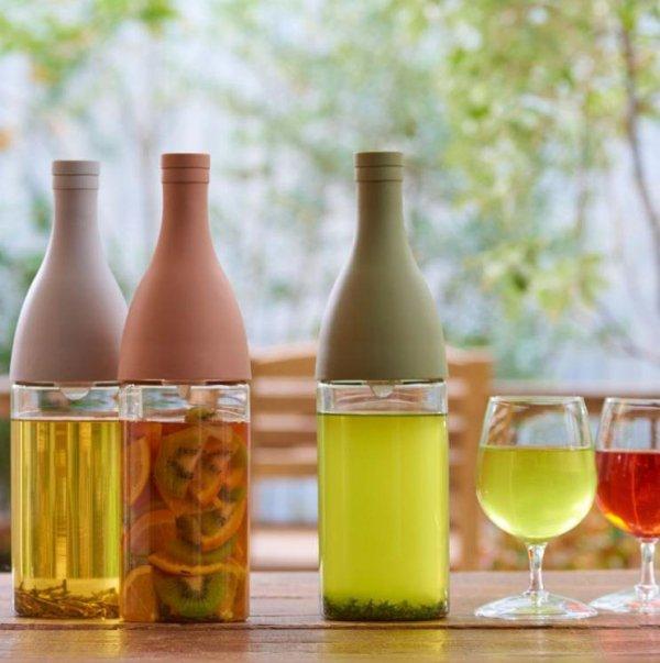 Aisne - butelka z Filtrem Cold Brew Tea - Różowa
