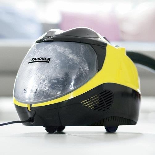 Kärcher SV 7 Cylindryczna myjka parowa 2200 W Czarny, Srebrny, Żółty