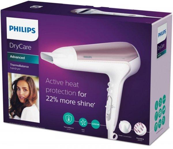 Suszarka do włosów Philips BHD186/00 (2200W; kolor biały)