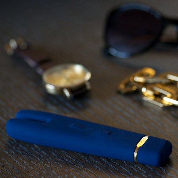Wibrator - Crave Duet Flex Vibrator Blue Niebieski
