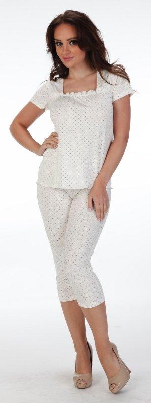 Piżama De Lafense Kropki 919 kr/r S-2XL
