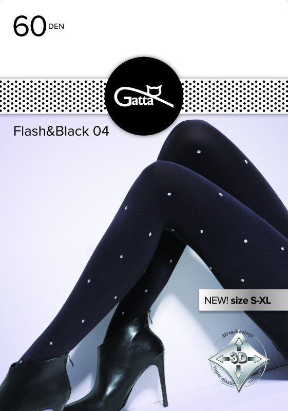 Rajstopy Gatta Flash & Black wz.04 60 den 2-4