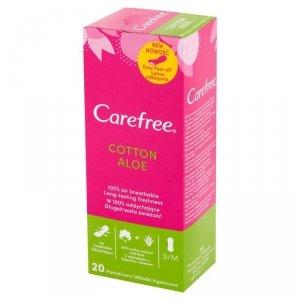 Carefree Cotton Aloe Wkładki higieniczne  1op.-20szt