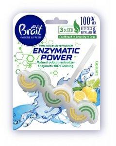 Brait Hygiene & Fresh Kostka toaletowa do WC Enzymatic Power - Lemon  45g