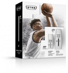 STR 8 Invisible Force & Detox Power Zestaw prezentowy (dezodorant spray 150ml+żel pod prysznic 400ml)