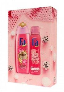 Fa Zestaw prezentowy Pink Passion (Żel pod prysznic 250ml+Dezodorant spray 150ml)