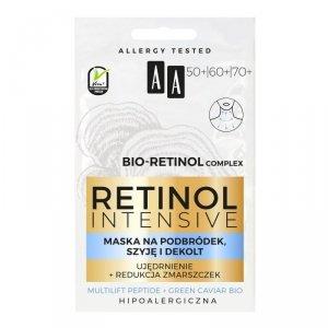 AA Retinol Intensive Maska na podbródek,szyję i dekolt - ujędrnienie + redukcja zmarszczek 5mlx2