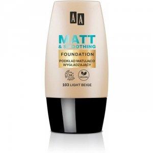 AA Make Up Matt Podkład matująco-wygładzający 103 Light Beige  30ml