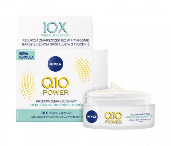 Nivea Q10 Power Krem przeciwzmarszczkowy + redukcja porów SPF15 na dzień 50ml