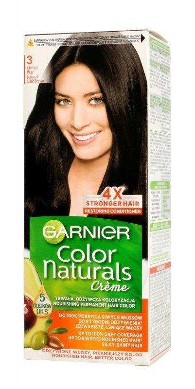Garnier Color Naturals Krem koloryzujący nr 3 Ciemny Brąz 1op