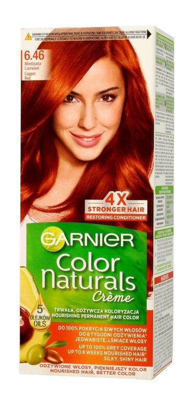 Garnier Color Naturals Krem koloryzujący nr 6.46 Miedziana Czerwień 1op