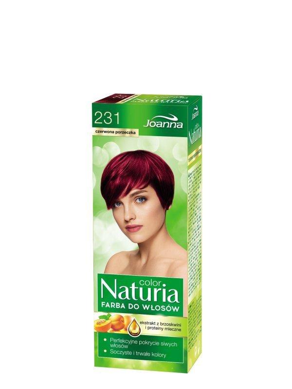 Joanna Naturia Color Farba do włosów nr 231-czerwona porzeczka  150g