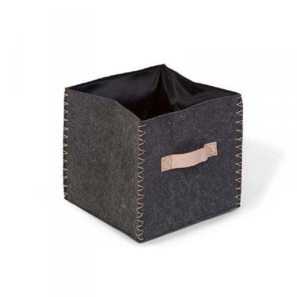 Childhome Składane pudełko filcowe 40 x 40 x 60 cm Anthracite/Gold