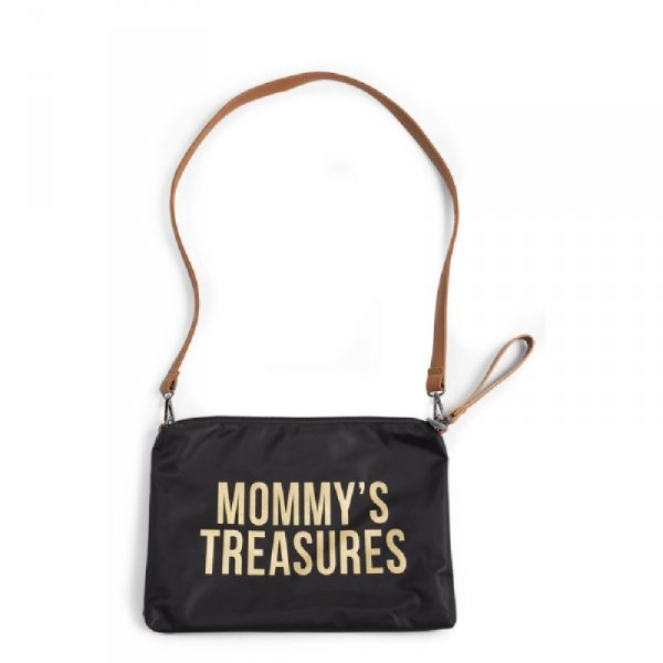 Childhome Torebka Mommy's Treasures Czarno-Złota