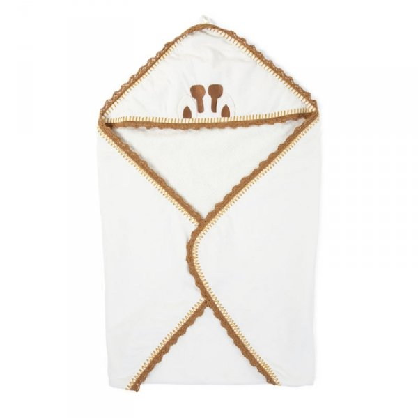 Childhome Ręcznik z kapturkiem + myjka Jersey Crochet