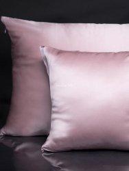 Jedwabna poszewka na poduszkę powder pink 40x40, 50x70