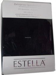 Prześcieradło zwirn-jersey z gumką Estella schwarz