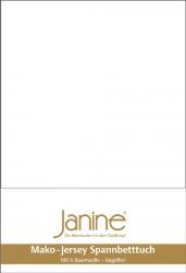 Janine prześcieradło jersey z gumką białe