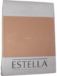 Prześcieradło zwirn-jersey z gumką Estella sahara
