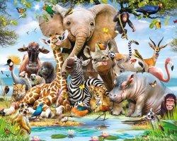 Tapeta 3D Walltastic Jungle Safari