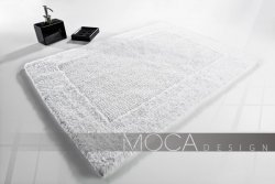 Dywanik łazienkowy Moca design biały 50x80