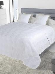 Narzuta bawełniana Szachownica biała 200x220