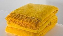 Moca desgin koc jednolity żółty