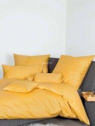 Janine pościel bawełniana egipska jednolita żółta 155x200