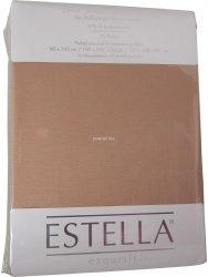 Prześcieradło zwirn-jersey z gumką Estella karamel