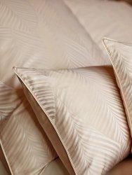 Exclusive Curt Bauer poszewka na poduszkę mako-żakardowa Leaf caramel