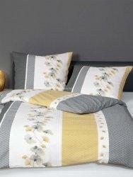 Janine pościel kora satynowa exclusive Tango gelb grau 20077 135x200