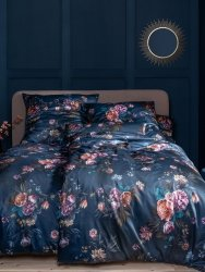 Estella pościel satyna de luxe Grazia nachtblau 1058 200x220