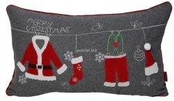 Poszewka świąteczna filcowa ubranie mikołaja 30x50