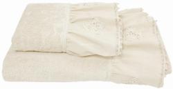 Ręcznik kremowy z falbanką 50x90, 70x140