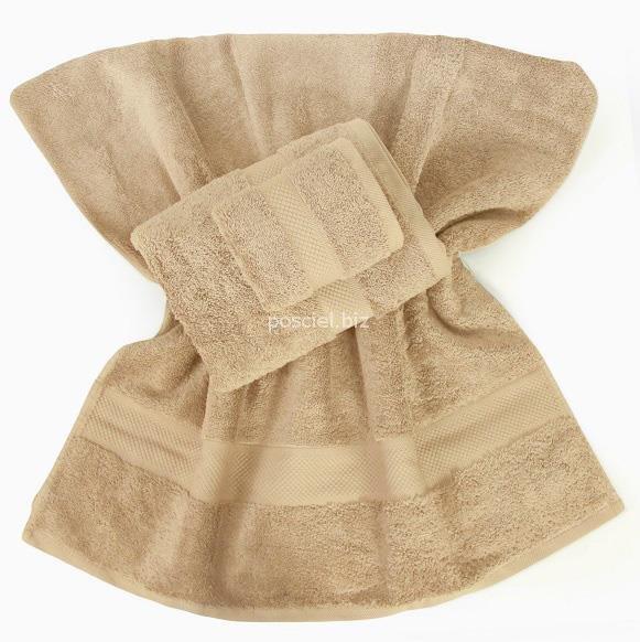Ręcznik jednolity beżowy 700g -   70x140