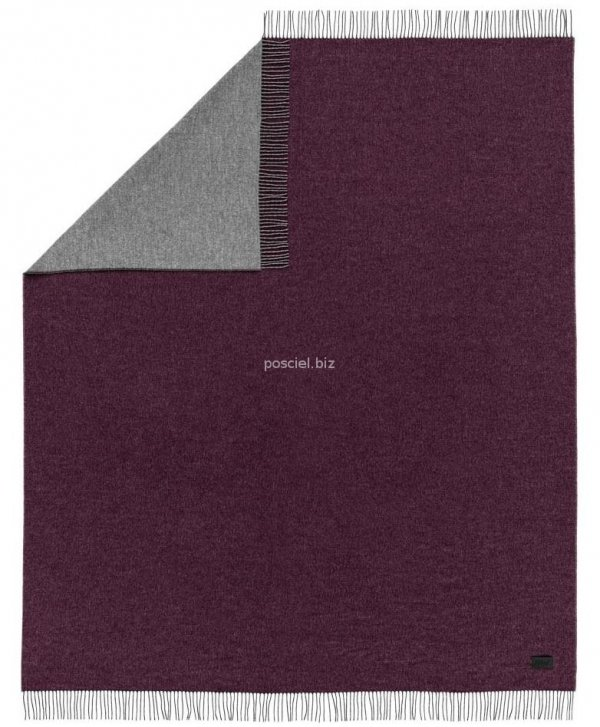 Estella dwustronny koc Tivoli bordo 8610 150x200