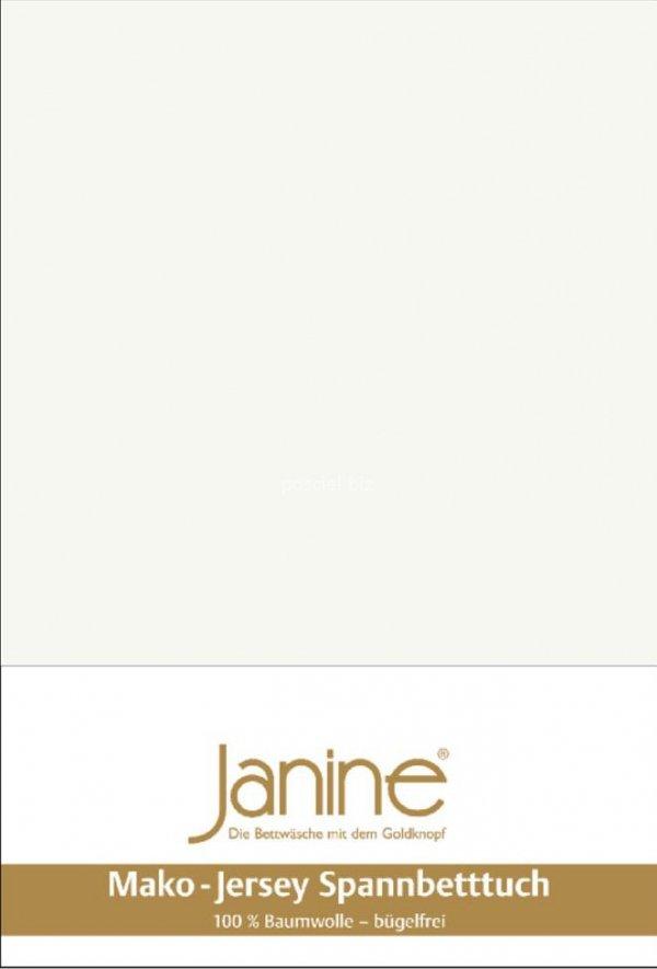 Janine prześcieradło jersey z gumką ecru